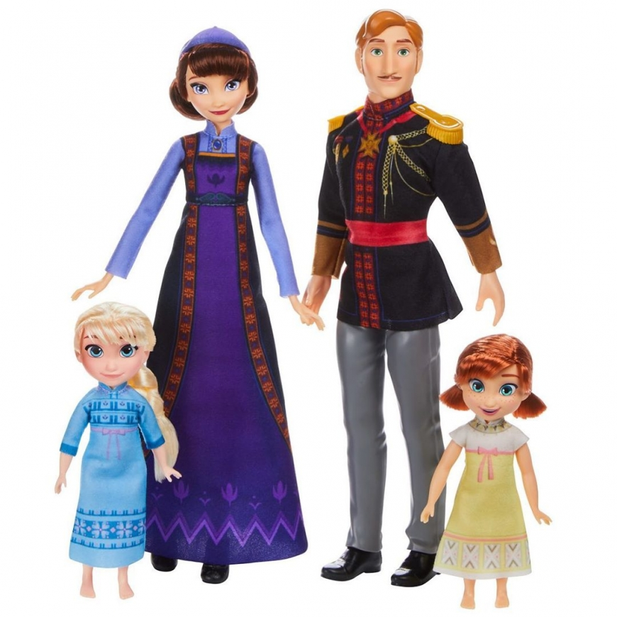 Queen Iduna and King Agnarr with kids Elsa and Anna doll set