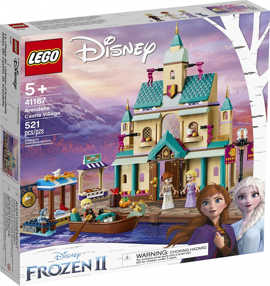 4 variation of Frozen 2 Arendelle Castle toys: Lego, Cute doll house, Deluxe Doll house, and 3D Jigsaw Puzzle