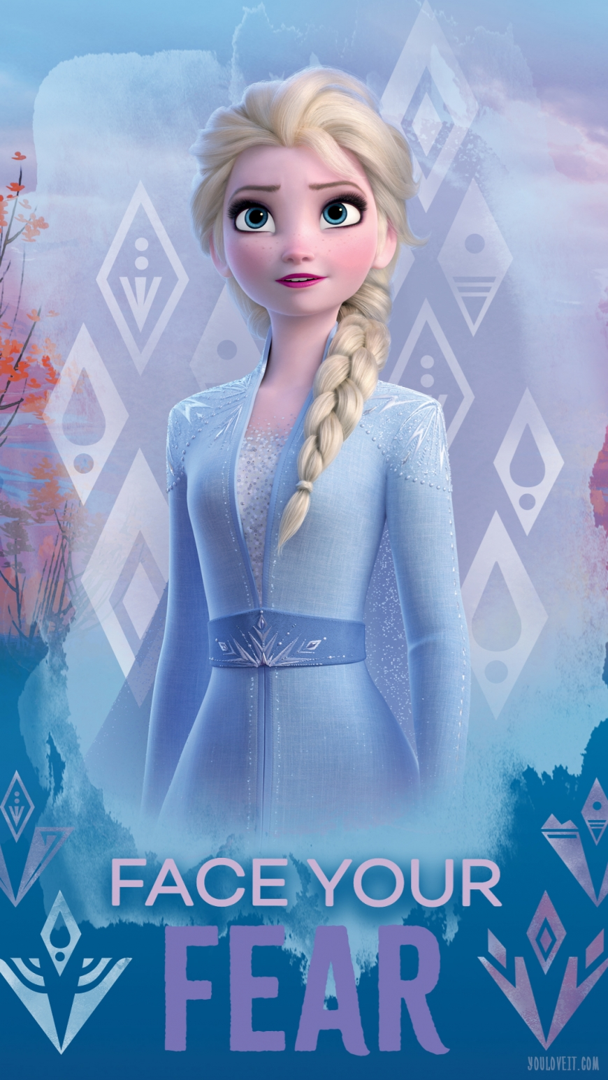 Frozen 2 phone image with Elsa