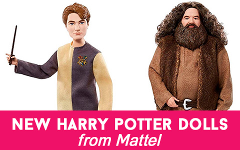 Cedric Diggory and Hagrid dolls - newest Harry Potter addition from Mattel