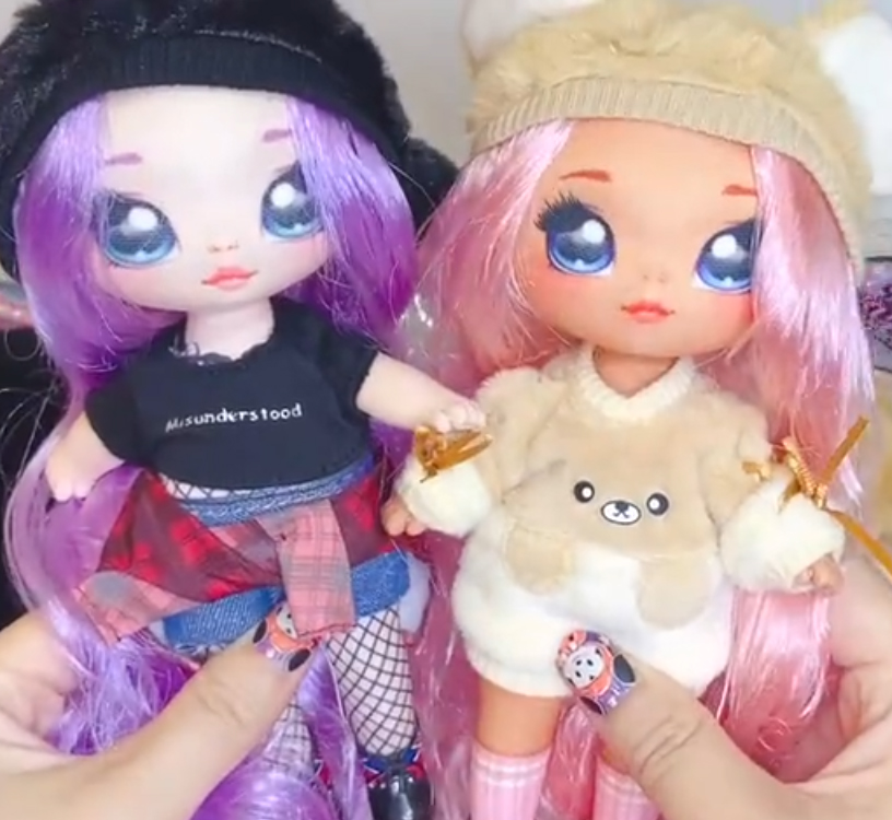 Na!Na!Na! Surprise! - new surprise soft fashion dolls from MGA, with cute animal pom
