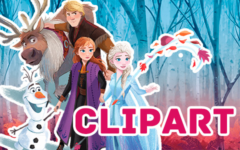 Disney Frozen 2 clipart in png format with a clear background
