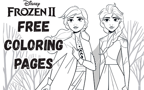 Frozen 2 free coloring pages with Elsa, Anna, Olaf, Kristoff, Bruni and Nokk
