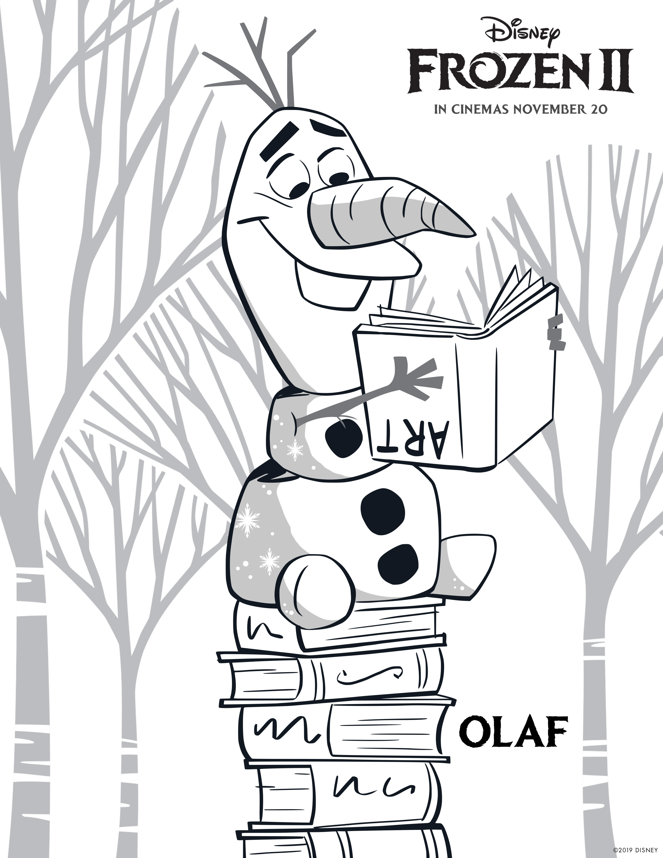 Olaf And Sven From Disney Frozen 2 Coloring Pages Printable | 3300x2550