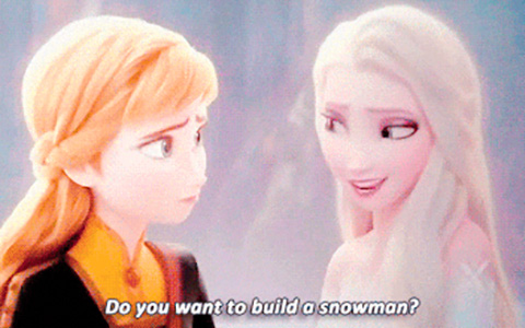 Frozen 2 Do you wan't to build a snowman in gifs