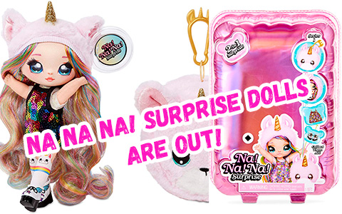 NA! Na! Na! Surprise 2-in-1 Fashion Doll & Plush Pom are out! You can GET them now! + unboxing video