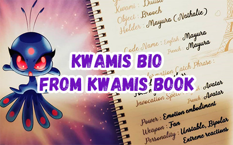 Miraculous Ladybug Kwamis official bio images from Kwamis book: Symbol, Gender, Power, Personality and more