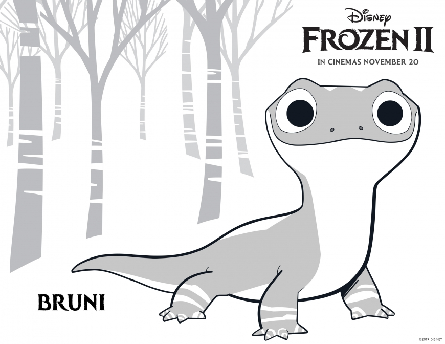 Frozen 2 coloring page Bruni