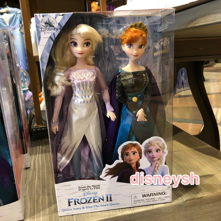 Disney Store Frozen 2 Anna Queen ELsa Snow Queen dolls from the final