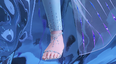 Frozen 2 Elsa fifth element snow queen hd image sandals