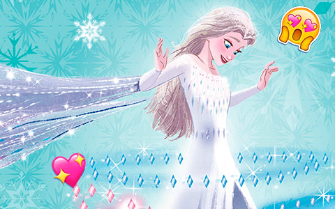 New Elsa Snow Queen fifth spirit images from Frozen 2 upcoming books!