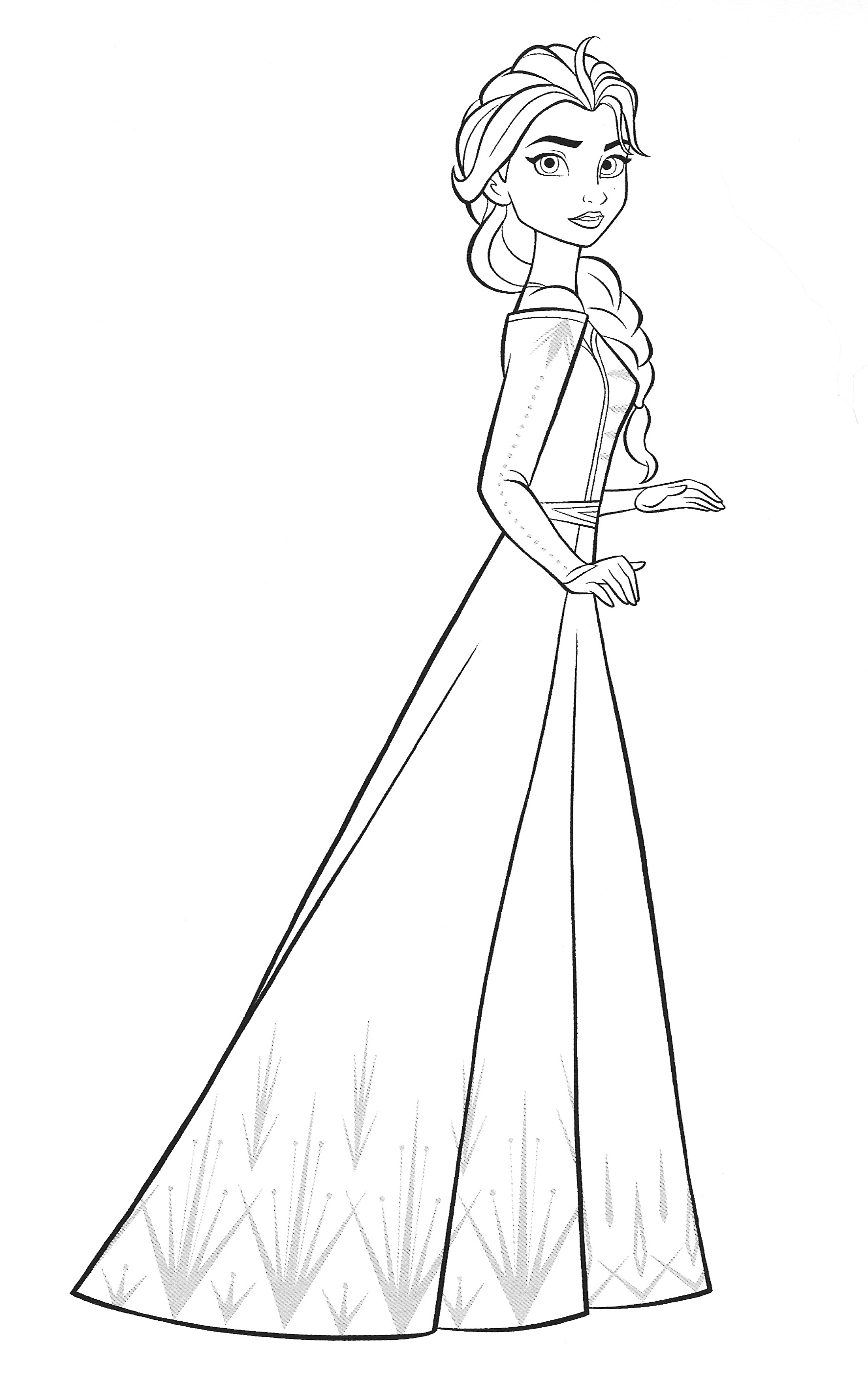New Frozen 2 coloring pages with Elsa - YouLoveIt.com