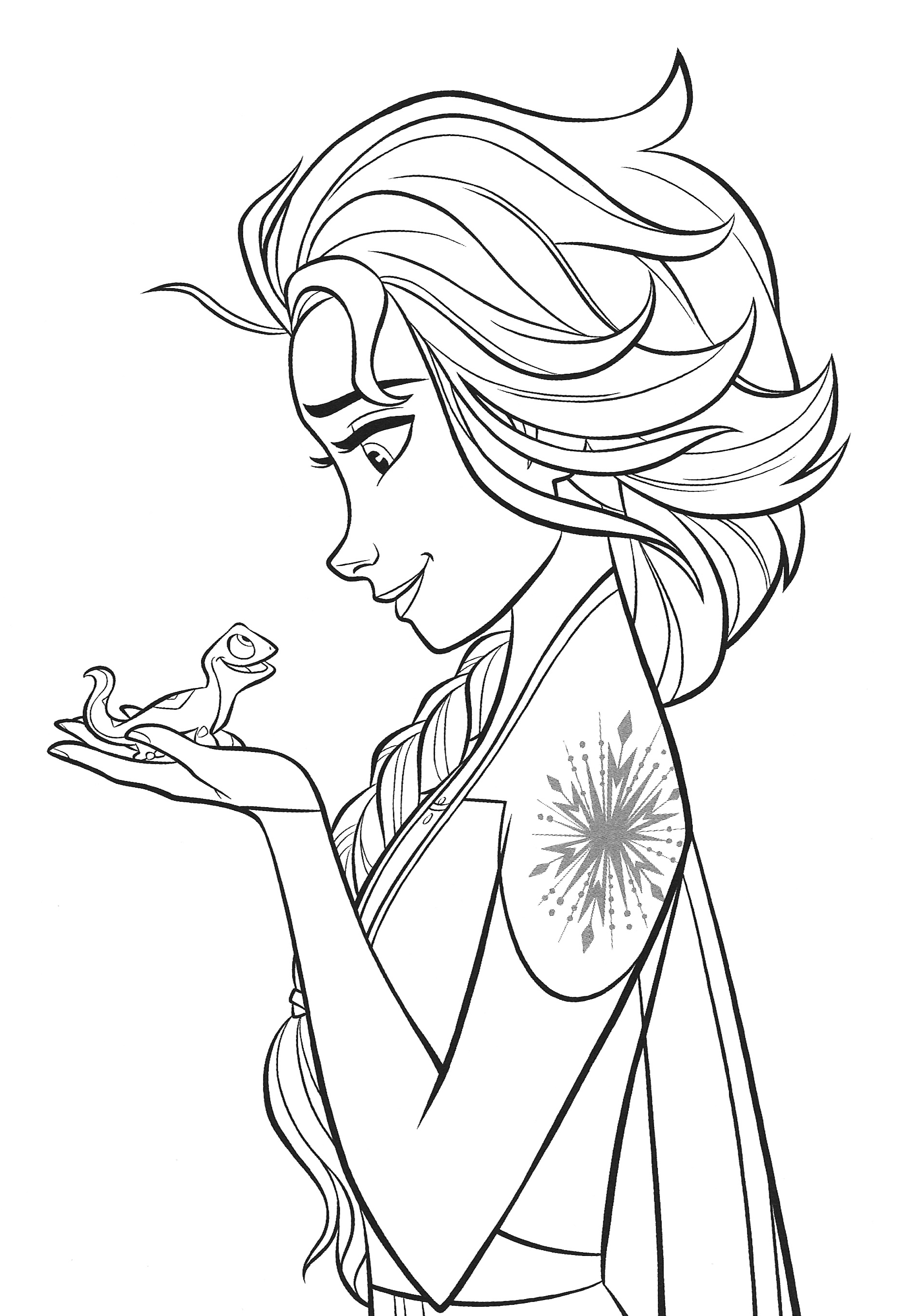 Frozen 2 Coloring Pages Into The Unknown - colouring mermaid