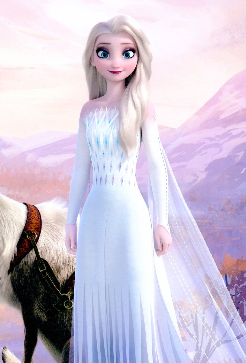 Frozen 2 Elsa white dress