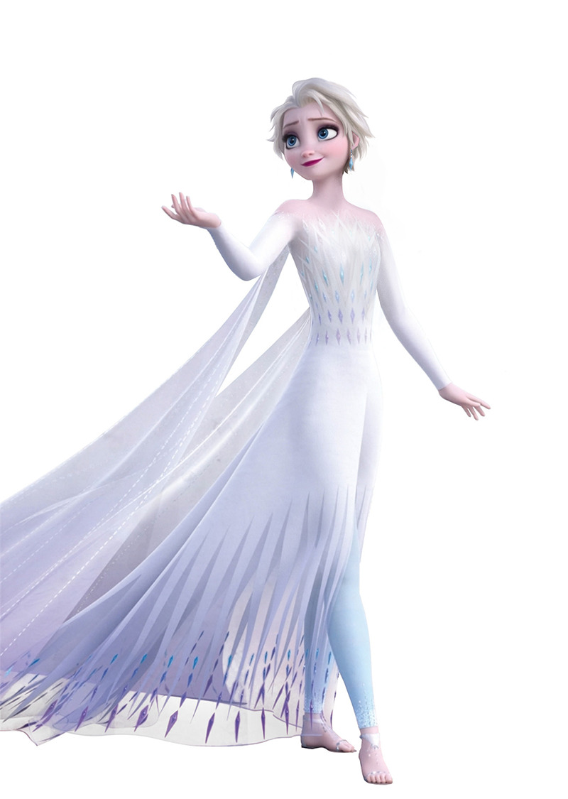 Frozen 2 short hair Elsa in white dress