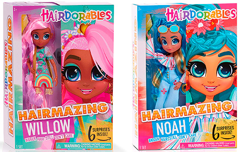 Hairdorables Hairmazing dolls Willow, Noah, Kali and Bella were listed online, as well as Hairdorables 18 inch Mystery Fashion Dolls