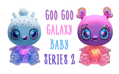 Stock images of Goo Goo Galaxy Baby Series 2 dolls with light up belly