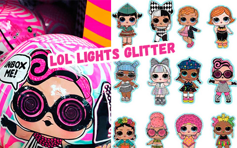 LOL Surprise Lights Glitter Series 2020 - new surprise that will come with mini torch that reveals hidden details