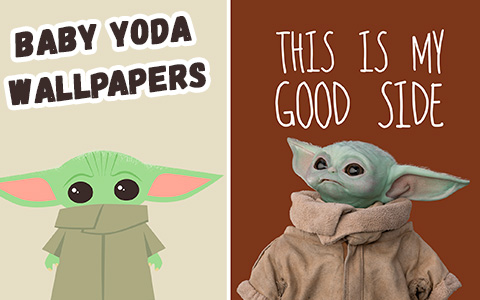 Baby Yoda phone wallpaper collection
