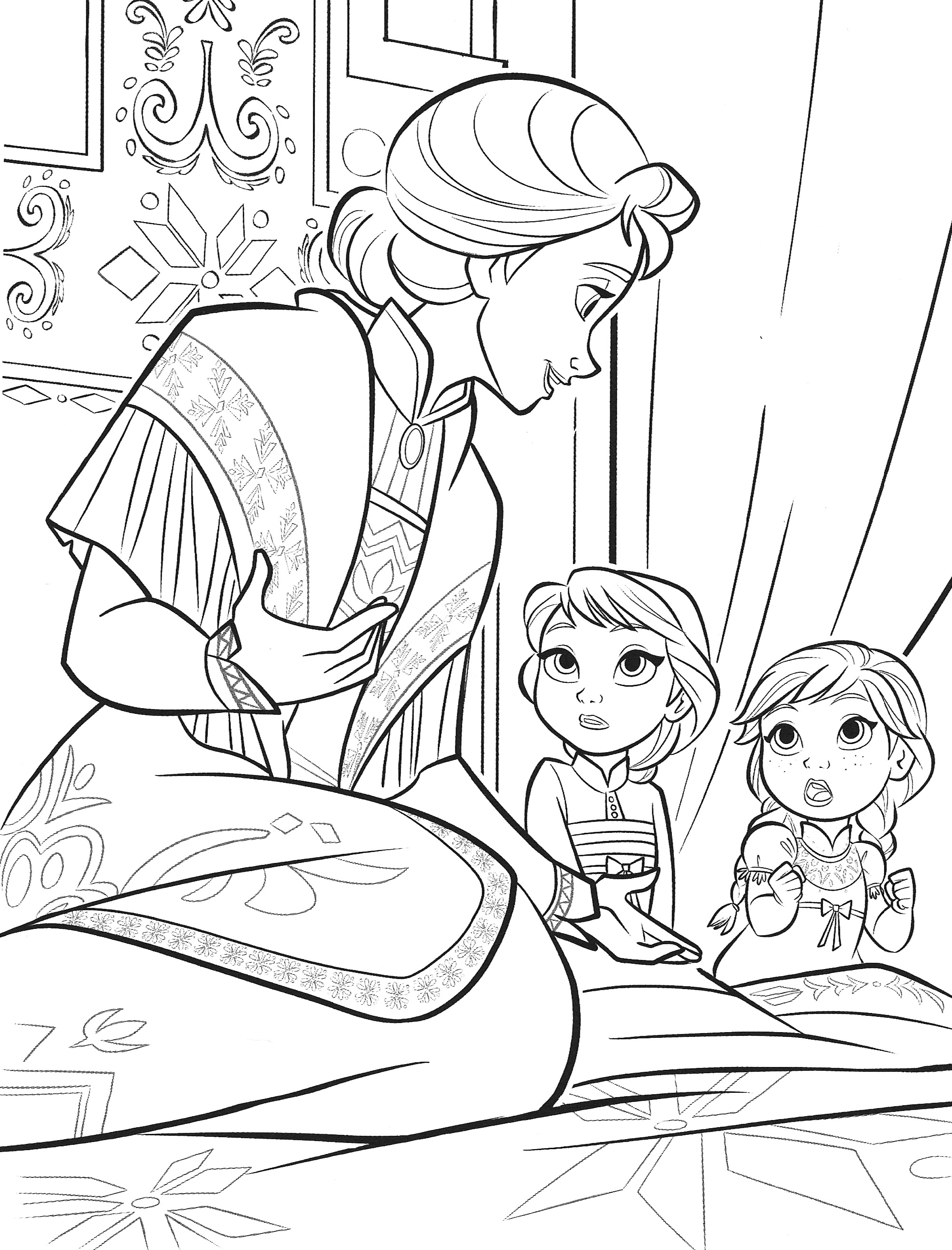 Frozen 2 Elsa and Anna coloring pages - YouLoveIt.com