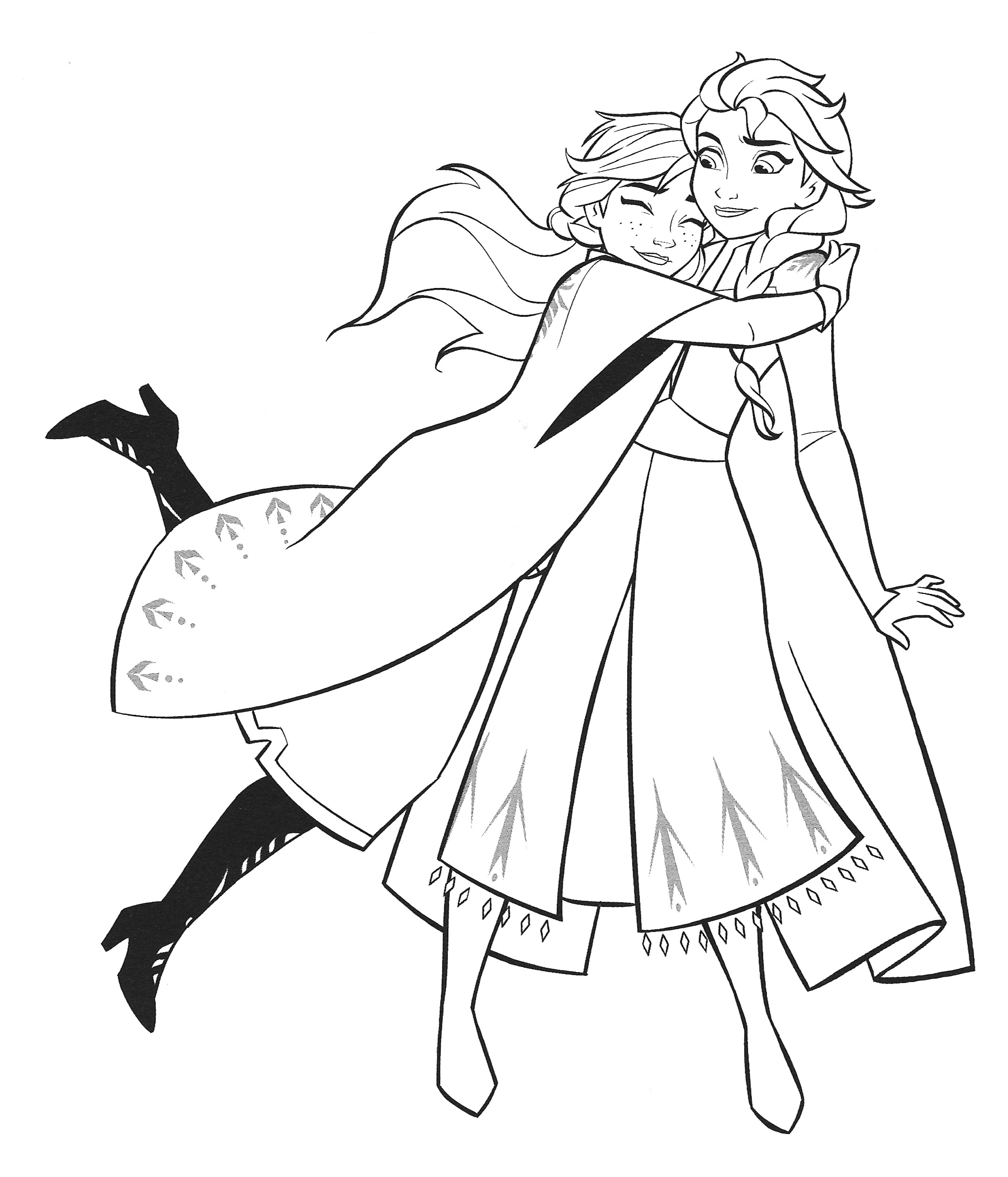 Frozen 2 Elsa And Anna Coloring Pages Youloveit Com
