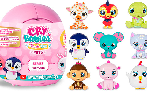 New Cry Babies Pets toys are super cute! Series Pet House