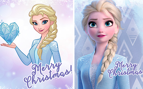 Frozen 2 Christmas Cards