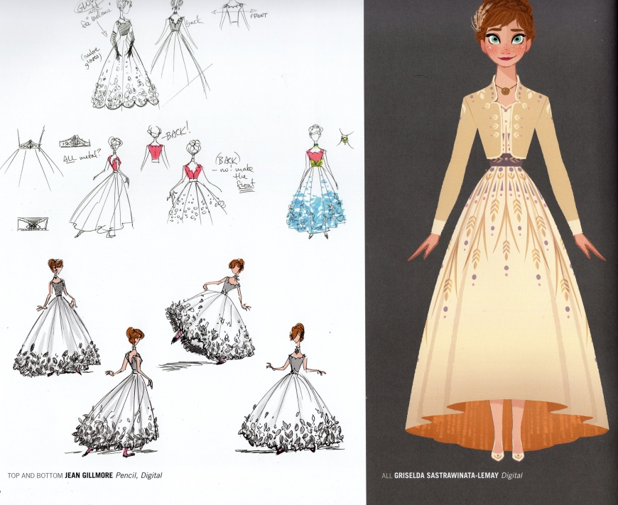 Anna's outfit from the Frozen 2 beginning