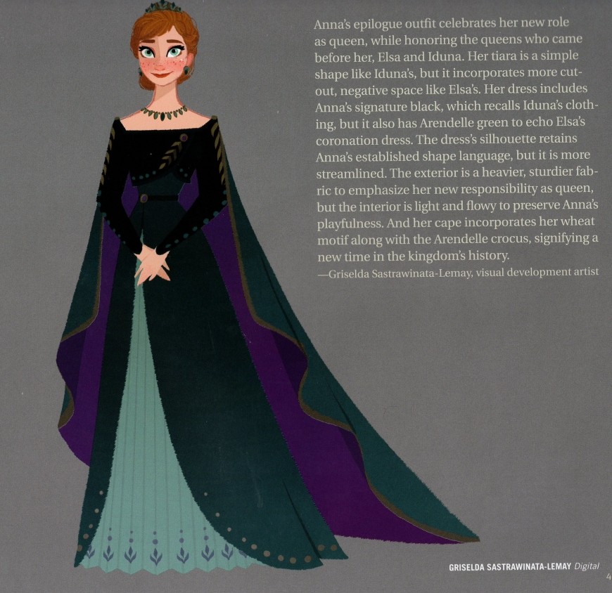 Anna's queen of Arendelle dress