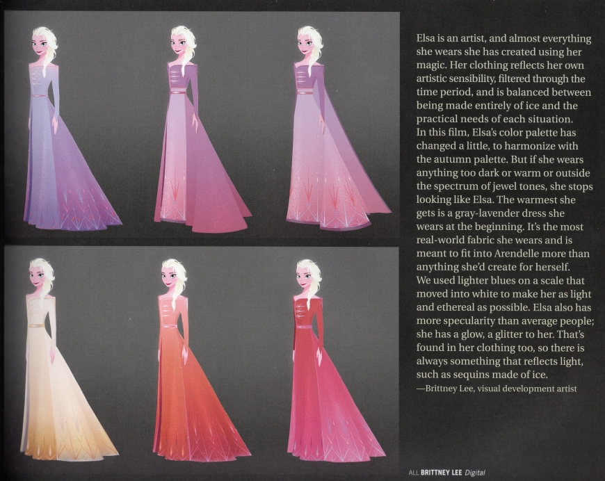 Elsa's lavender dress from the beginning of Frozen 2 movie