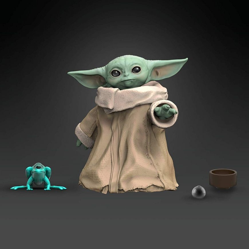 Baby Yoda new toys from Hasbro: The Child 1.1-Inch action figure and Baby Yoda Talking Plush Toy with Character Sounds and Accessories