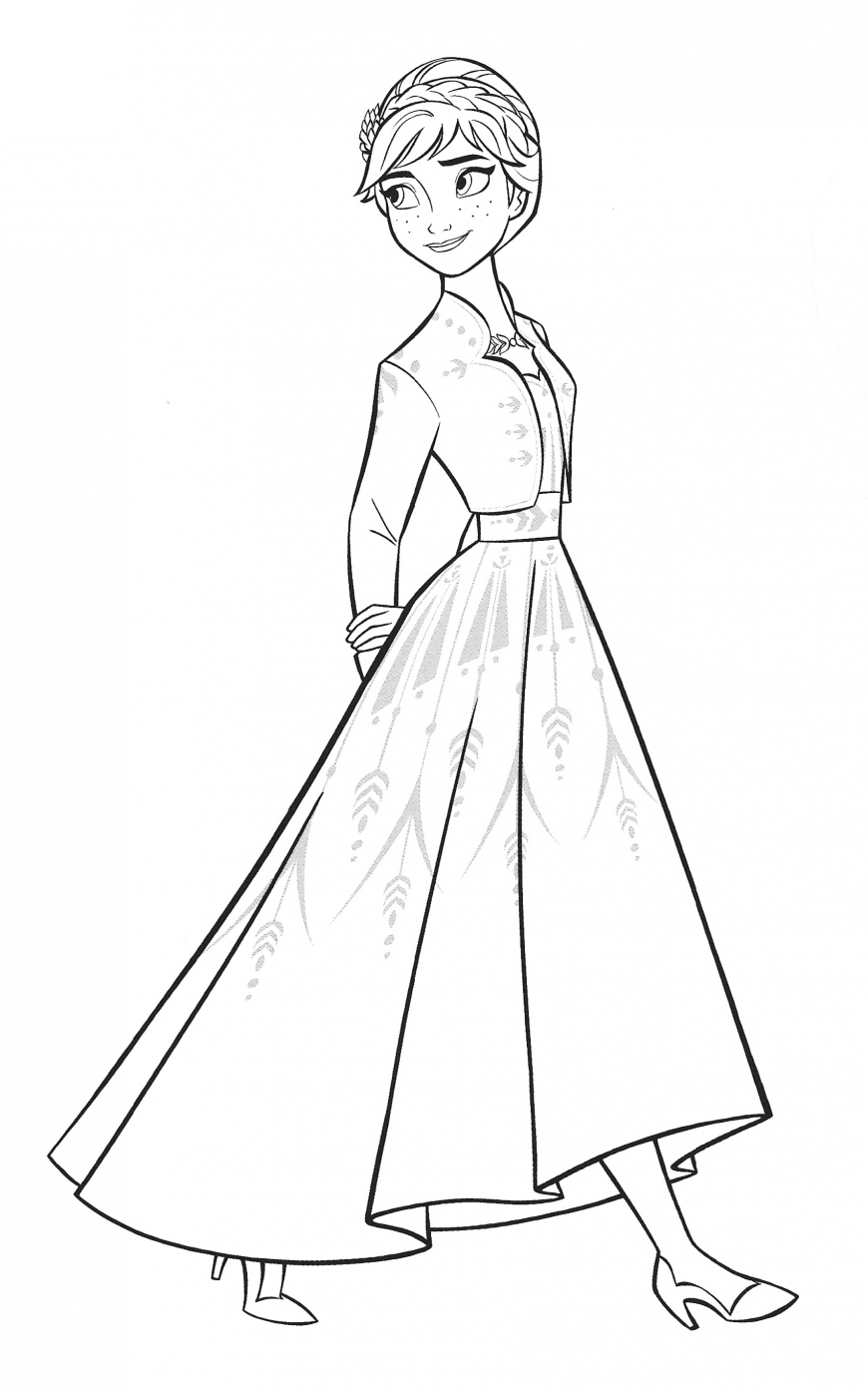 A new coat for anna coloring pages ~ New Frozen 2 coloring pages with Anna - YouLoveIt.com