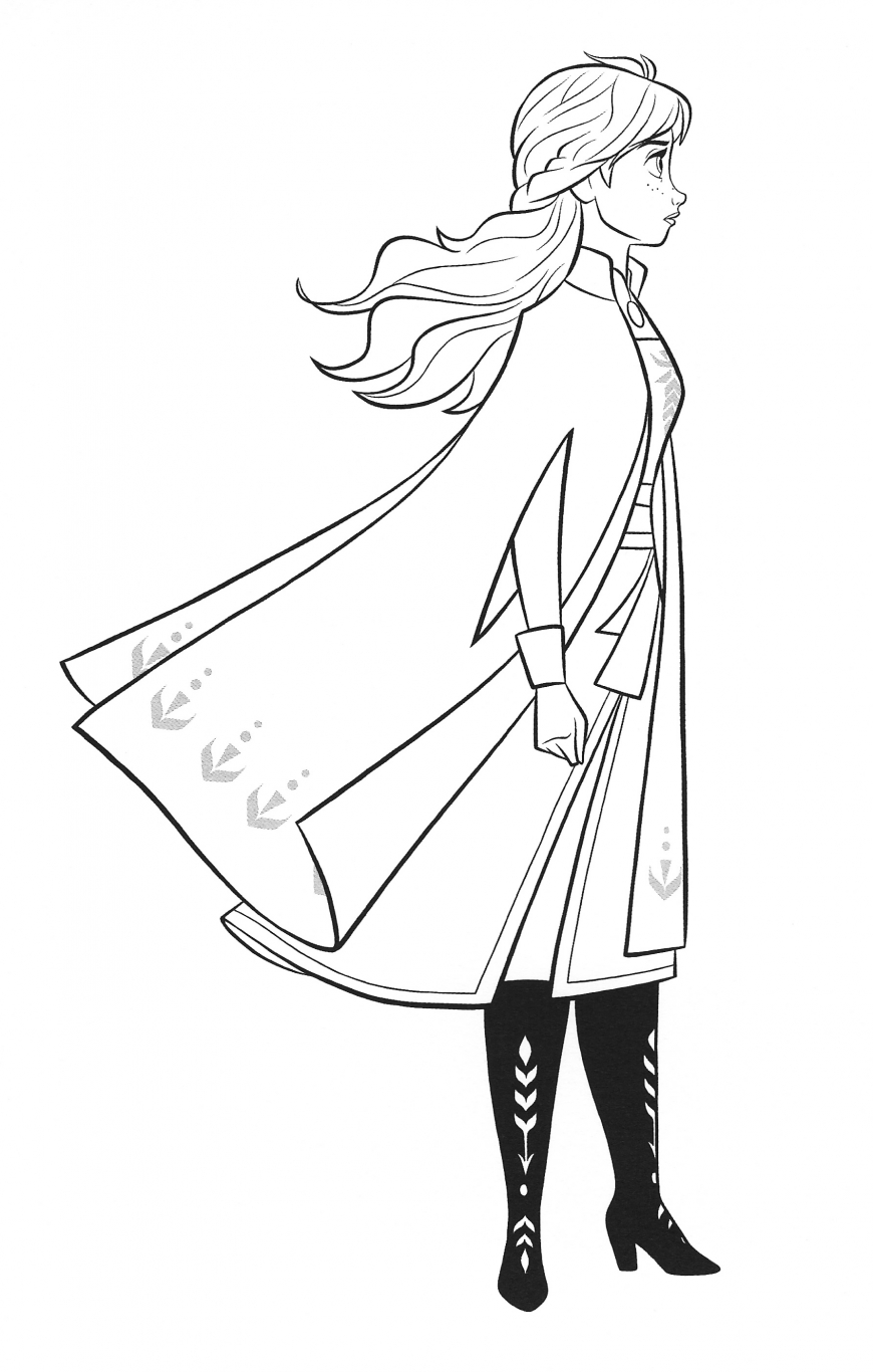 New Frozen 2 coloring pages with Anna - YouLoveIt.com