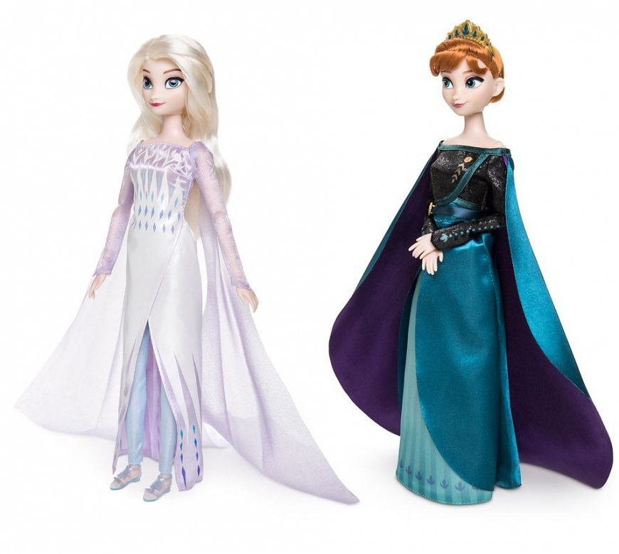 Best price-to-delivery ebay listing for Disney Store Elsa and Anna final dolls - Queen Anna Elsa the Snow Queen dolls