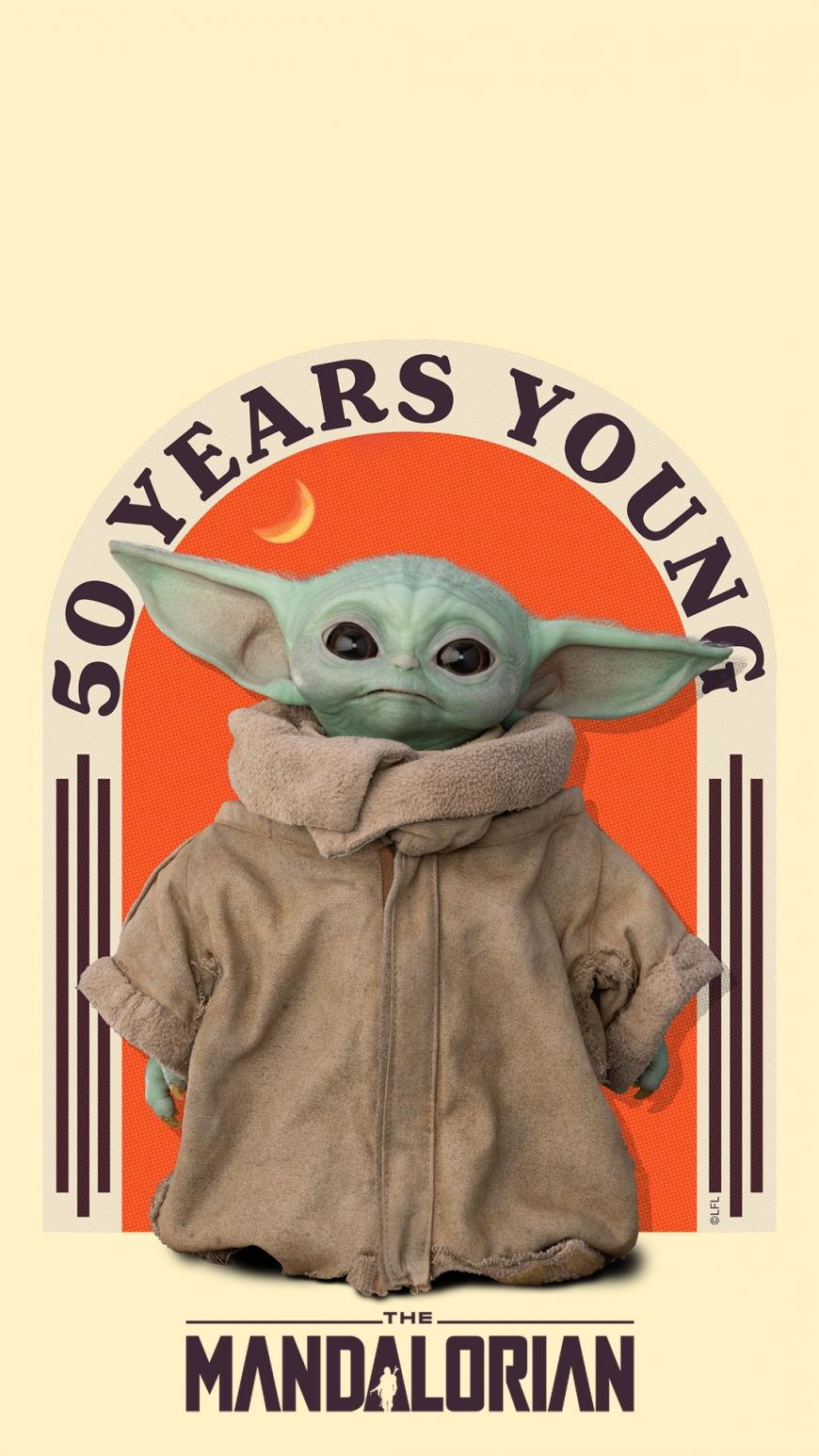 50 years yong Baby Yoda wallpaper