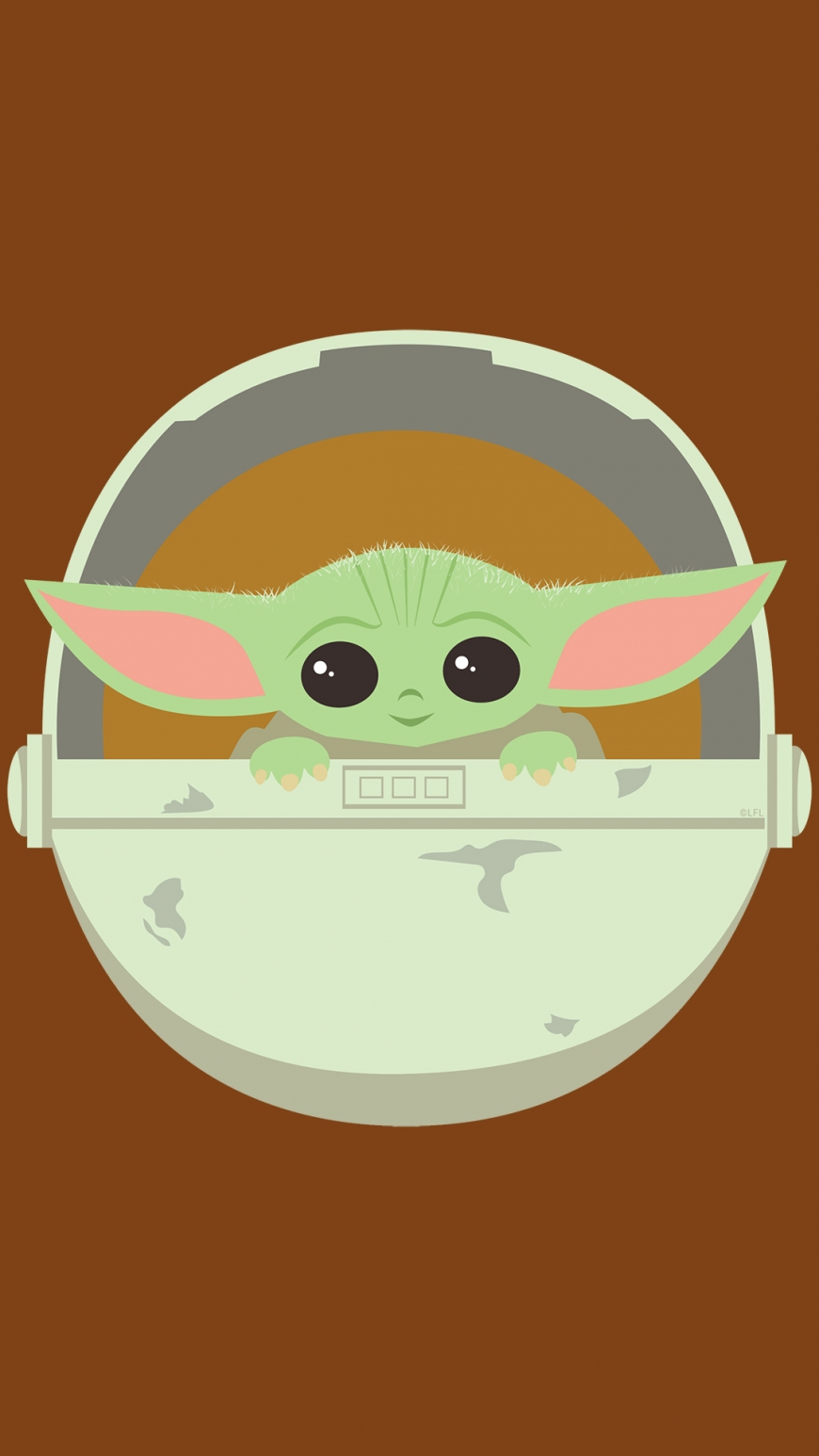Floating Baby Yoda wallpaper