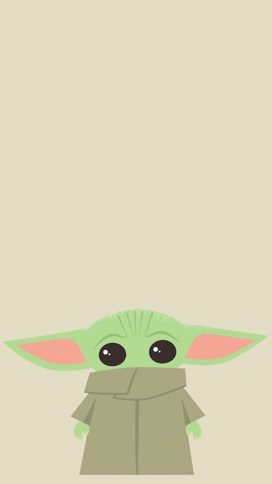 Cute Baby Yoda wallpaper