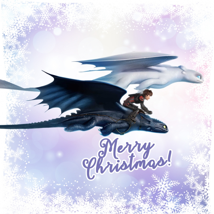 Merry Christmas news cards How to train your dragon