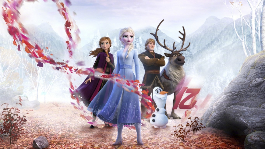 Frozen 2 hd wallpaper with numbers, spirits magic