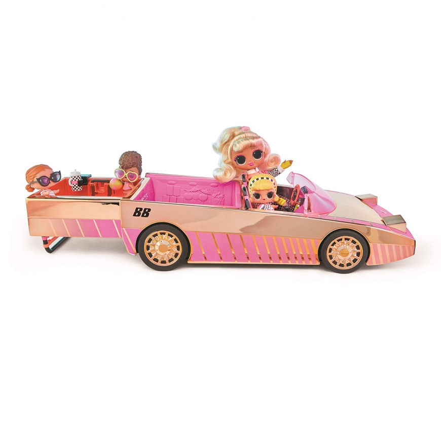 LOL Surprise Car-Pool Coupe with Drag Racer doll