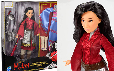 Mulan 2020 new dolls from Hasbro: Mulan fashion doll. Mulan Two Reflections set with 2 outfits