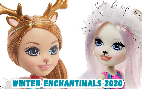 New 2020 Enchantimals Family winter themed dolls and animals: Reindeer, Snowy Owl and Polar Bear