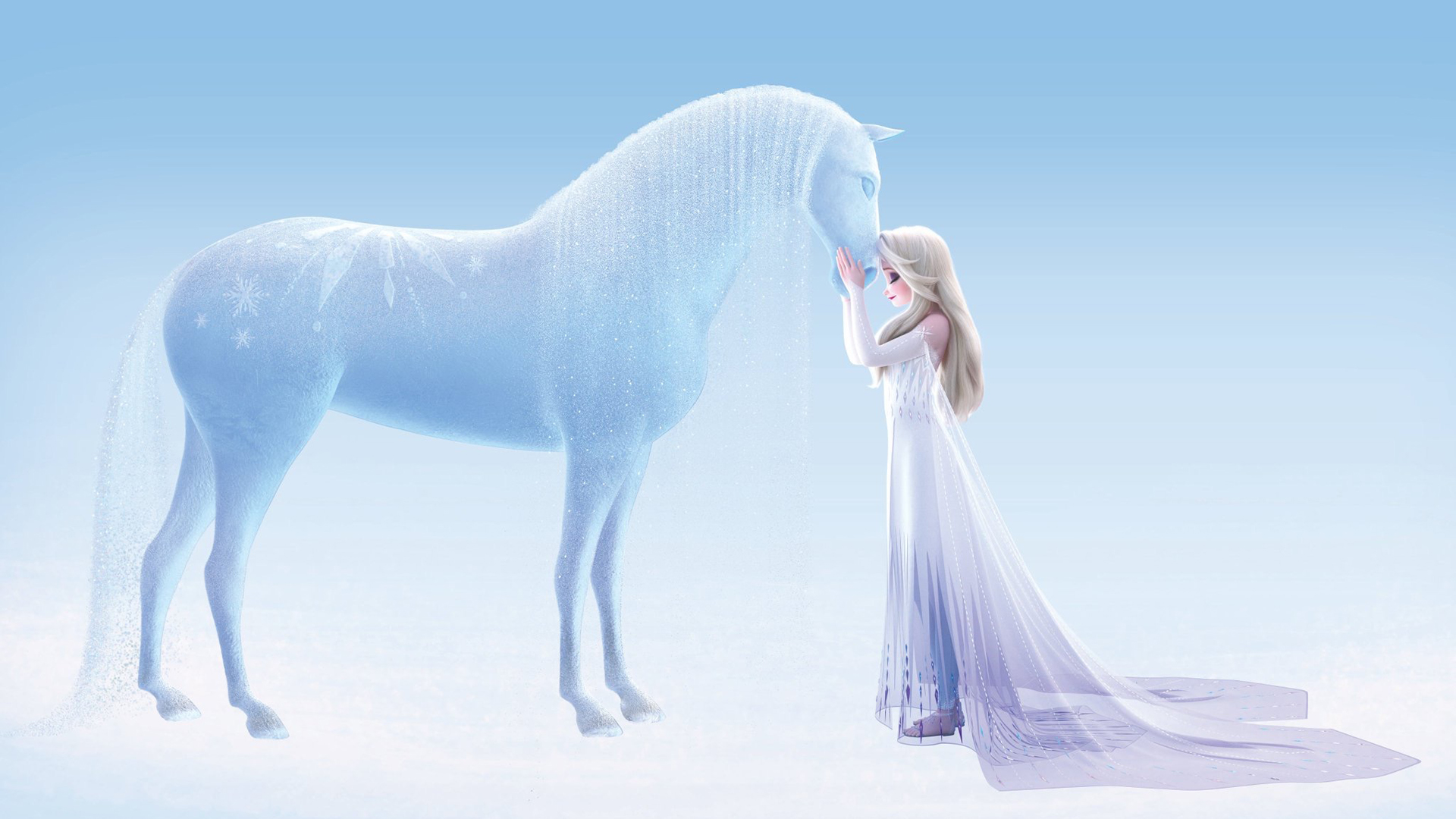 New Image Of Elsa In White Dress Shows Details Of Frozen Version Of The Water Spirit Horse Nokk Youloveit Com