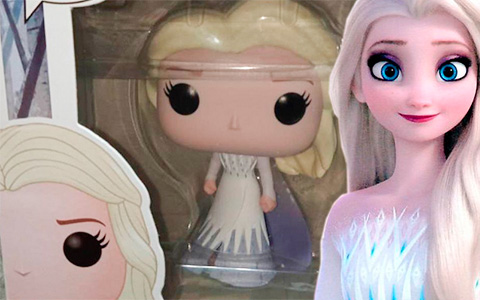 New Funko POP Frozen 2  Elsa with her hair down in white dress, Elsa riding Nokk and Anna queen of Arendelle figures