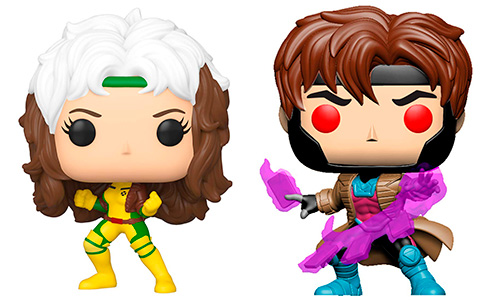 Funko POP X-Men Classic Gambit and Rouge vinyls