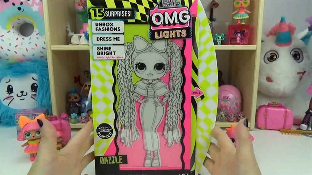 Lol Surprise Omg Lights Dazzle Doll Out Of The Box