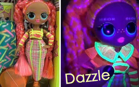 LOL Surprise OMG Lights Dazzle doll. Out of the box pictures and video, price and release date
