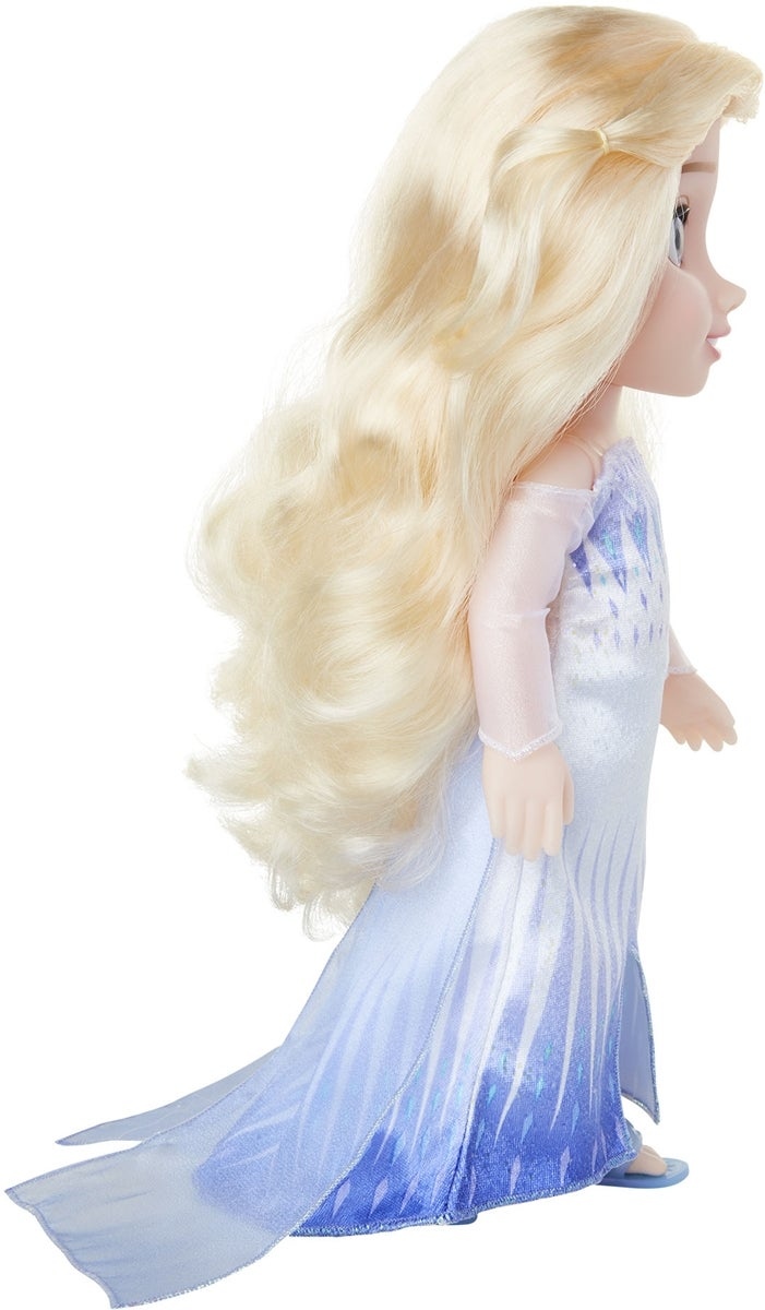 Elsa Frozen 2 Snow queen white dress doll with hair down