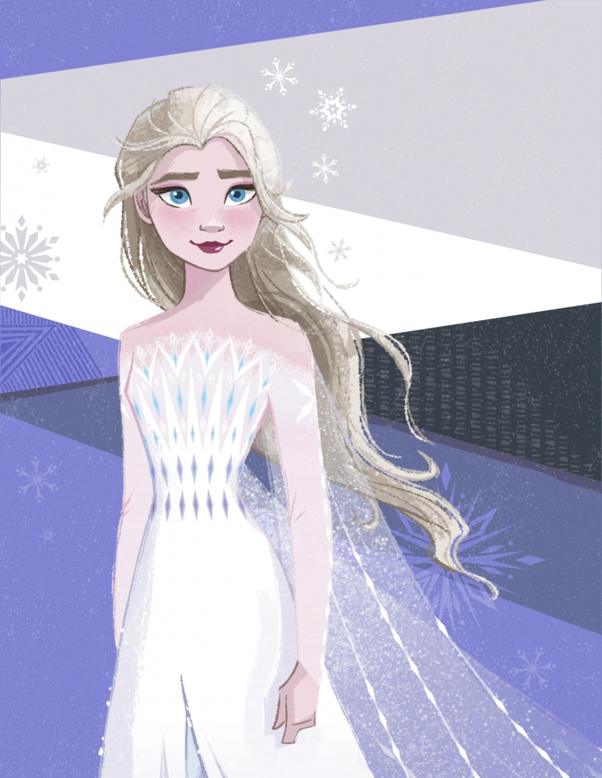 Frozen 2 Elsa new image with hair down