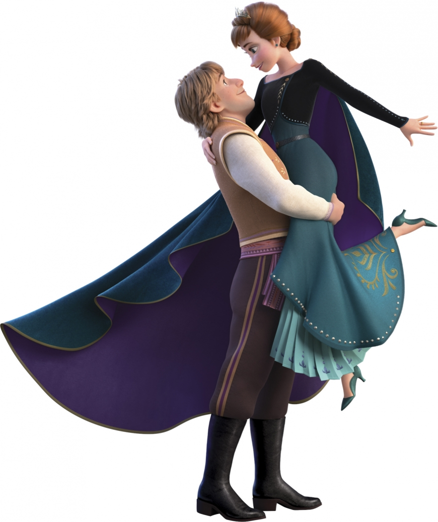 Frozen 2 Anna queen of Arendelle and Kristoff